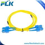 Sc/LC/FC/St/Mu/MTRJ/E2000 PC/Upc/APC 싱글모드 다중 상태 단순한 이중 잠바 광섬유 접속 코드
