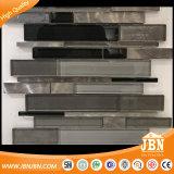 Черно и серо цвета, алюминии и мозаики печатание стеклянно для стены (M855174)