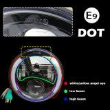 12V imperméable 5000lm 7 pouce de la moitié de l'anneau de halo Angel pour phare de l'Oeil de Jeep Wrangler