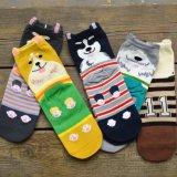 Unisextierkatze-Hundemuster-beiläufige Socken-Karikatur