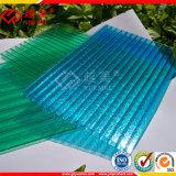 Folha 100% material da telhadura da folha da cavidade do policarbonato da qualidade do Virgin