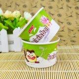 Напечатанная таможней устранимая бумажная чашка мороженного