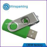 Mecanismo impulsor promocional del flash del USB del eslabón giratorio del palillo del USB 2.0