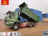 Sinotruk HOWO 6X4の緑色の頑丈なダンプトラック