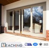 De Dubbele Verglaasde Schuifdeuren van uitstekende kwaliteit van het Ontwerp UPVC