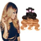 Объемная волна 16inches выдвижения волос человеческих волос цвета Ombre перуанская