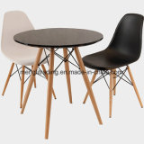 Mesa de jantar quadrada mesa da sala de estar com as pernas de madeira quadrado preto