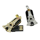 Faire pivoter la Tour Eiffel Micro lecteur Flash USB Thumb Diamond longe de sécurité