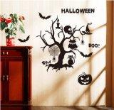 DIY Halloween Partei liefert Hieb-Wand-Abziehbild-Wand-Aufkleber Belüftung-3D dekorativen furchtsamen, Dekor-Ausgangsfenster-Dekoration-Set Halloween-Eve