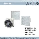 Gran potencia del cojinete de bolas de refrigeración de tipo de filtro de ventilación ventilador para paneles de disyuntores (FK5529)