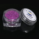 21608 Rainbow holográfica láser de color púrpura reluce Eyeshadow pigmento en polvo