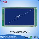 El color LCD TFT mostrar la pantalla táctil de 800x480 puntos Syc800480b070V20 con SSD IC1963