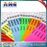 RFID, pulseras de papel desechables NFC 13.56MHz pulsera