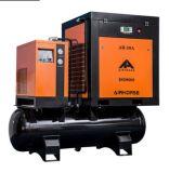 Hoher leistungsfähiger kompakter Schrauben-Kompressor mit gekühltem Trockner und Becken