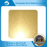 Panneau d'or de décoration d'acier inoxydable de Ti