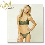 Neue glatte Farben-Gewebe-bequemer Badebekleidungs-Bikini