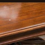 2017 Dernière conception longue table à manger en bois massif (comme l835)