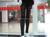 High-Elastic nylon spandex tejido Jacquard Legging de Fitness, ropa deportiva