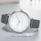 주문 숙녀 가죽 석영 Wist 시계, 여자 합금 시계 (WY-17043)