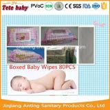 囲まれた赤ん坊は80PCS白いワイプの赤ん坊の貨幣のぬれたワイプを拭く