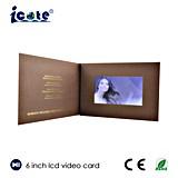 Размер A5 промотирование дела брошюры LCD 6.0 дюймов видео- рекламируя
