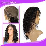 """parrucca profonda dell'onda della parte anteriore del merletto del grado 8A, """" parrucca mongola della parte anteriore del merletto dei capelli dell'onda profonda 20"""