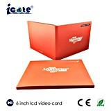 6.0 Zoll LCD-Geschäfts-Förderung-Broschüre mit Splitter-Stempel und UV