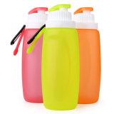 botella de agua plegable reutilizable del silicón 320ml para el recorrido