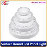 a lâmpada dobro branca azul acrílica quadrada redonda do teto do diodo emissor de luz da luz de painel do diodo emissor de luz da cor 3+2W ilumina-se para baixo para a decoração Home, iluminação da alameda de compra,