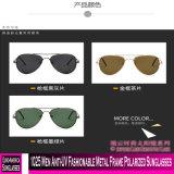 1025 homens anti-UV na moda óculos polarizados com estrutura metálica