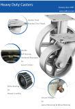 5インチの頑丈な旋回装置の鋼鉄足車の車輪