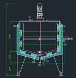 O tanque de aço inoxidável sanitárias do depósito do vapor depósito de mistura do Tanque de aquecimento