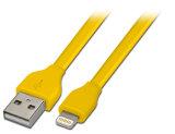 더하기 iPhone 6s 7을%s Mfi 번개 8pin 편평한 책임 USB 케이블 코드