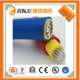 Câble cuivre électrique résistant au feu inférieur/moyen de la gaine U-1000 RO2V de PVC d'isolation du constructeur XLPE de câble de tension