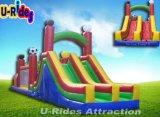 Regenbogen-Farben-aufblasbarer Hindernis-Kurs für Park