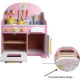 O pré-escolar de madeira japonês finge a cozinha do jogo que cozinha brinquedos educacionais das crianças ajustadas da tabela