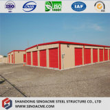 Costruzione prefabbricata a prova di fuoco del magazzino della struttura d'acciaio di qualità su grande scala