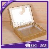 Nombre de encargo calificado rectángulo de regalo de empaquetado de papel de la correa de la cartulina