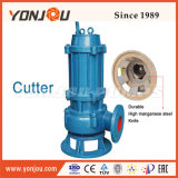 Yonjou Qw полупогружном судне сточных вод насос режущего аппарата