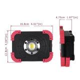 Luz portátil do trabalho do diodo emissor de luz, luz recarregável do trabalho do diodo emissor de luz