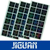 Sticker van het Hologram van de Laser van de Veiligheid van de Druk van de Goede Kwaliteit van de douane de Goedkope Zelfklevende