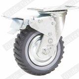 Rutschfeste PU-Hochleistungsfußrolle mit seitlicher Bremse (G4207D)