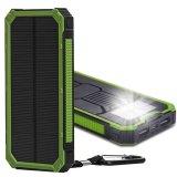 10000mAh, die bewegliche Telefon-Aufladeeinheits-externer Batterie-Sonnenenergie-Bank-Doppeltes USB grundlegendes anschließt, imprägniern