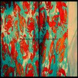 De Stof van de Huid van de Perzik van de polyester met het Af:drukken van de Overdracht voor Broek