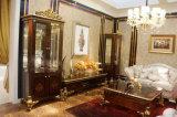 이탈리아 단단한 나무 호화스러운 고대 높은 광택 색칠 및 부속은 금박지 진열장을 포함했다