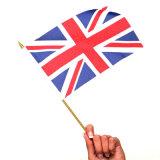 Футбольные фанаты США полет развевается флаг руки страны (YH-HF009)
