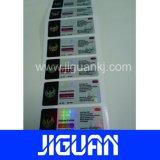 Tamaño personalizado Rectange Anti-Counterfeit etiqueta Vial Holograma láser