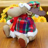 Stuk speelgoed van de Kerstman van de Herten van de Elanden van het Jonge geitje van Kerstmis het Gift Gevulde
