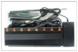 Oito Antenas Bloqueadores de Sinal de Bloqueio para 2g+3G+2.4G+telecomando+Gpsl1+Lojack, GPS de alta potência e o sinal do Telefone Móvel WiFi Jamer