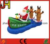 カスタマイズされた膨脹可能なクリスマスの装飾、販売のためのサンタの膨脹可能なそり